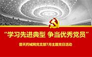 普天药械网党支部集中学习郑德荣等7名同志的先进事迹