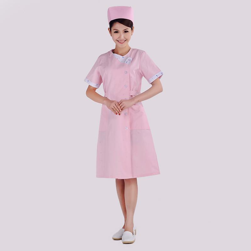 祥龙缘护士服夏装短袖粉色大褂医生服美容牙科工作服女士XYA-28