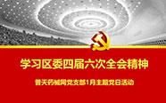 """普天药械网党支部召开""""学习区委四届六次全会精神""""主题党日活动"""