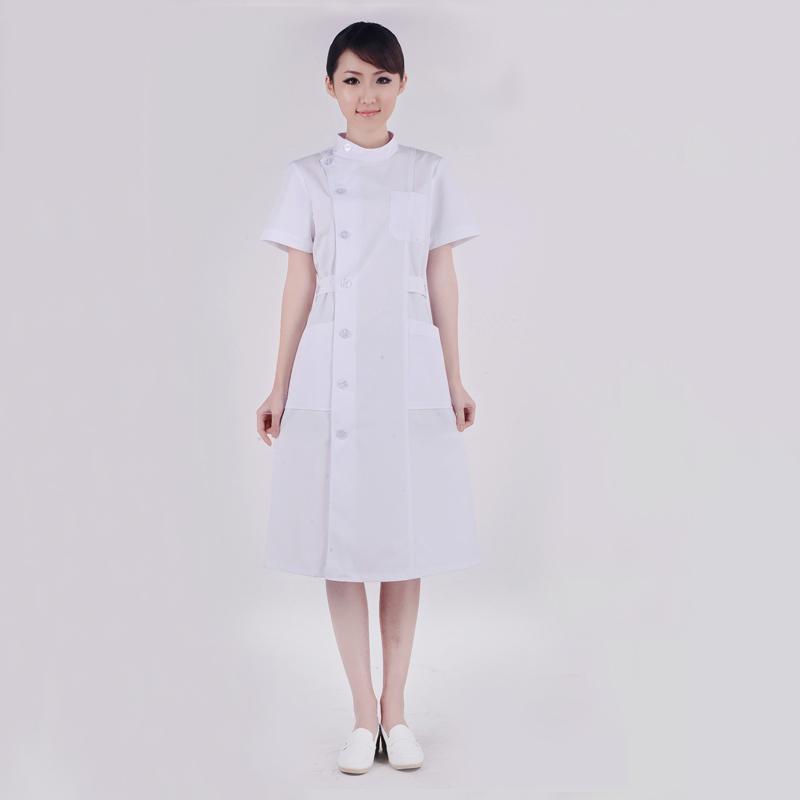 时尚白色护士服/美容牙科口腔/药店工作服 夏装XYA-11